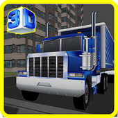 Cargo Transport Truck Carrier icon