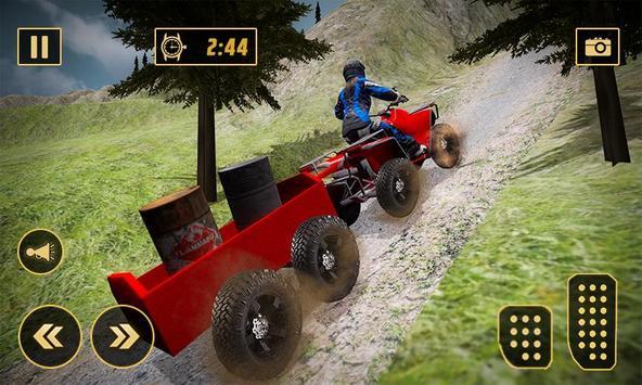 Extreme Off-Road Cargo Transport Quad ATV Rider 3D poster