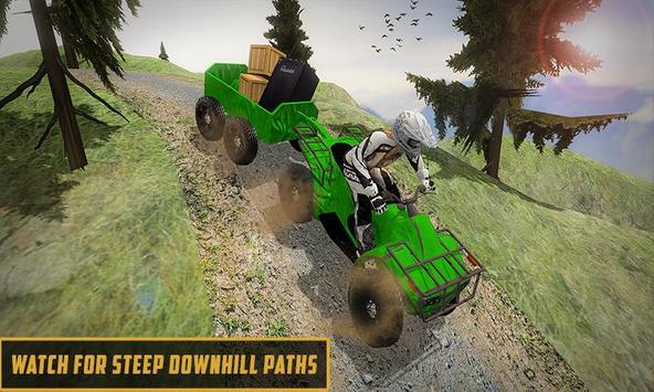 Extreme Off-Road Cargo Transport Quad ATV Rider 3D screenshot 1