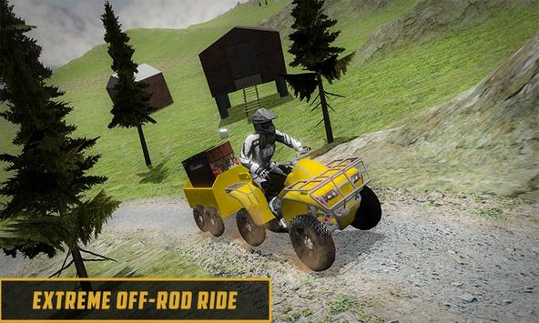 Extreme Off-Road Cargo Transport Quad ATV Rider 3D screenshot 2