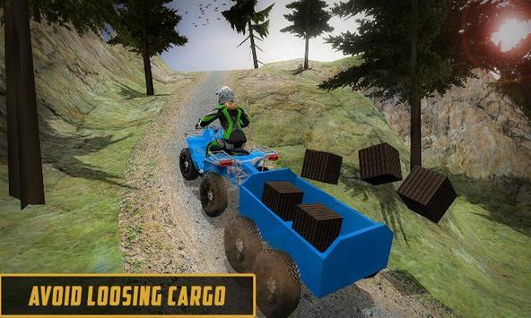 Extreme Off-Road Cargo Transport Quad ATV Rider 3D screenshot 3