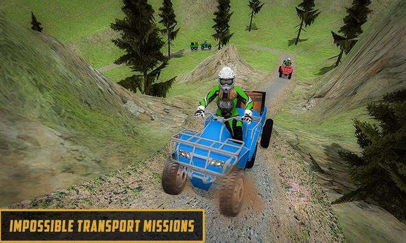 Extreme Off-Road Cargo Transport Quad ATV Rider 3D screenshot 4