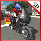 Fast Food Motorcycle Delivery icon