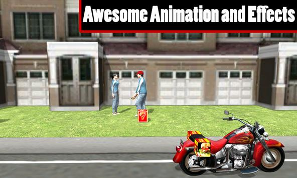 Fast Food Motorcycle Delivery poster