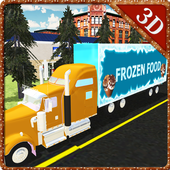 Frozen Food Truck Simulator icon