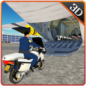 Police Bike Plane Transporter icon