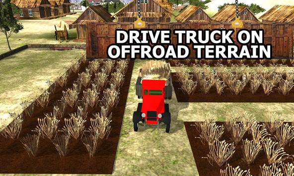 Farm Crops Transporter Truck poster