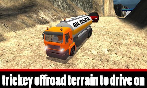 Uphill Oil Tanker Truck Driver poster