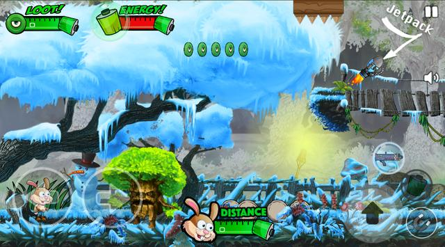 Bunny Forest Run : Winter screenshot 4