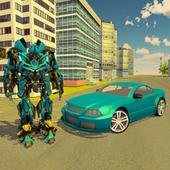 Futuristic Flying Car Transformation X Robot Wars icon