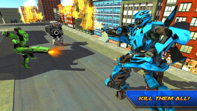 Futuristic Flying Car Transformation X Robot Wars screenshot 4