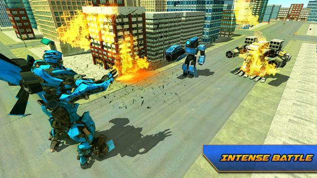 Futuristic Flying Car Transformation X Robot Wars screenshot 5