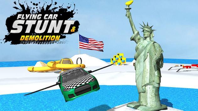 Flying Car Stunt n Demolition poster