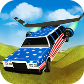 Flying Limo Car Driving Fever icon