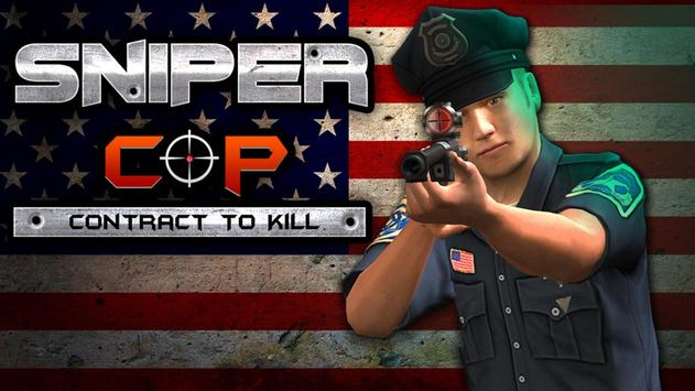 Sniper Cop Contract to kill 3D poster