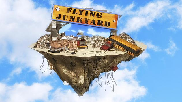 Flying Truck Junkyard Parking poster