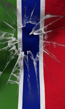 Gambia flag lwp Free poster