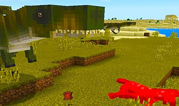 T-Rex dinosaur – mod for Minecraft screenshot 4
