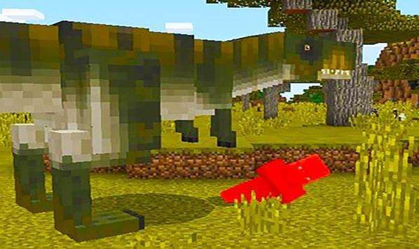 T-Rex dinosaur – mod for Minecraft screenshot 1