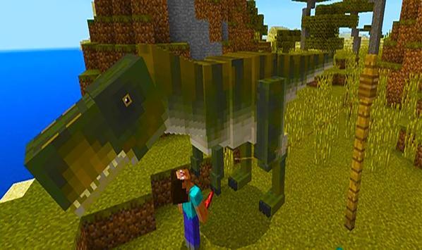 T-Rex dinosaur – mod for Minecraft screenshot 2