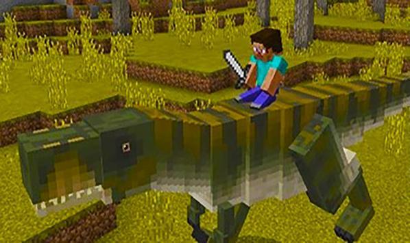 T-Rex dinosaur – mod for Minecraft screenshot 3