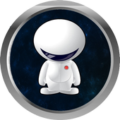astronaut in space jump icon