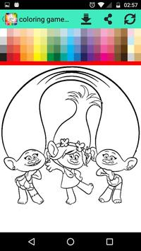 Coloring Game For Troll Poster