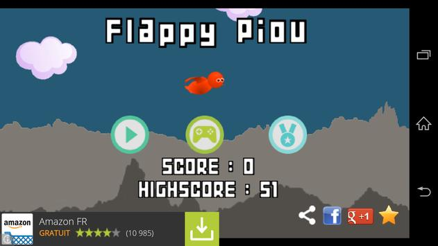 Flappy Piou screenshot 1