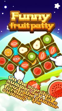Funny fruit patty poster