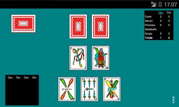 Scopa Online apk screenshot