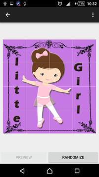 little girl slide puzzle apk screenshot