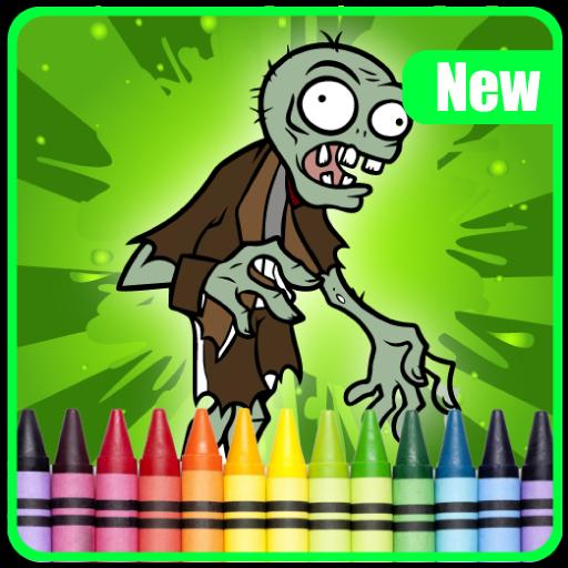 New Zombie Coloring book Game poster