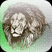 Slide Puzzle lion icon