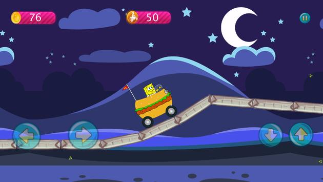 Sponge-bob Hill Climbing screenshot 14