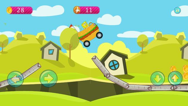 Sponge-bob Hill Climbing screenshot 18