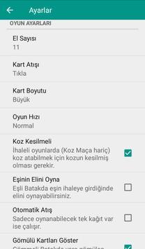 Batak - Tekli, Eşli İnternetsiz Batak apk screenshot