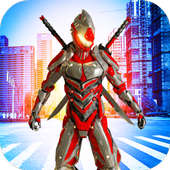 super robot Jungle Run 3D FREE icon