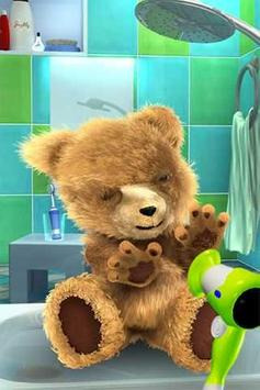 Teddy Bear Bathe -Talking Bear apk screenshot