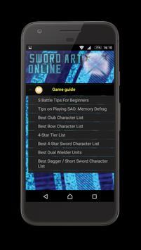Guide Sword Art Online game screenshot 2