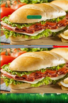 Find differences game - Food poster