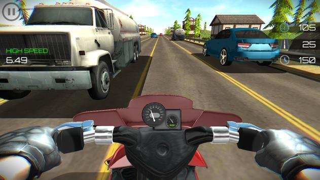 Highway Moto Traffic Rider screenshot 4