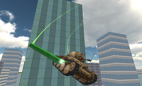 Real Flying Tank Simulator 3D poster