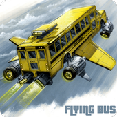 Flying Bus Simulator Free 2016 icon