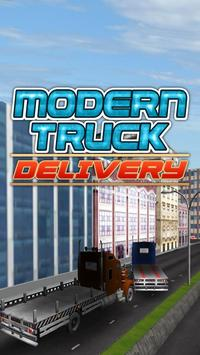 Modern Truck Delivery poster