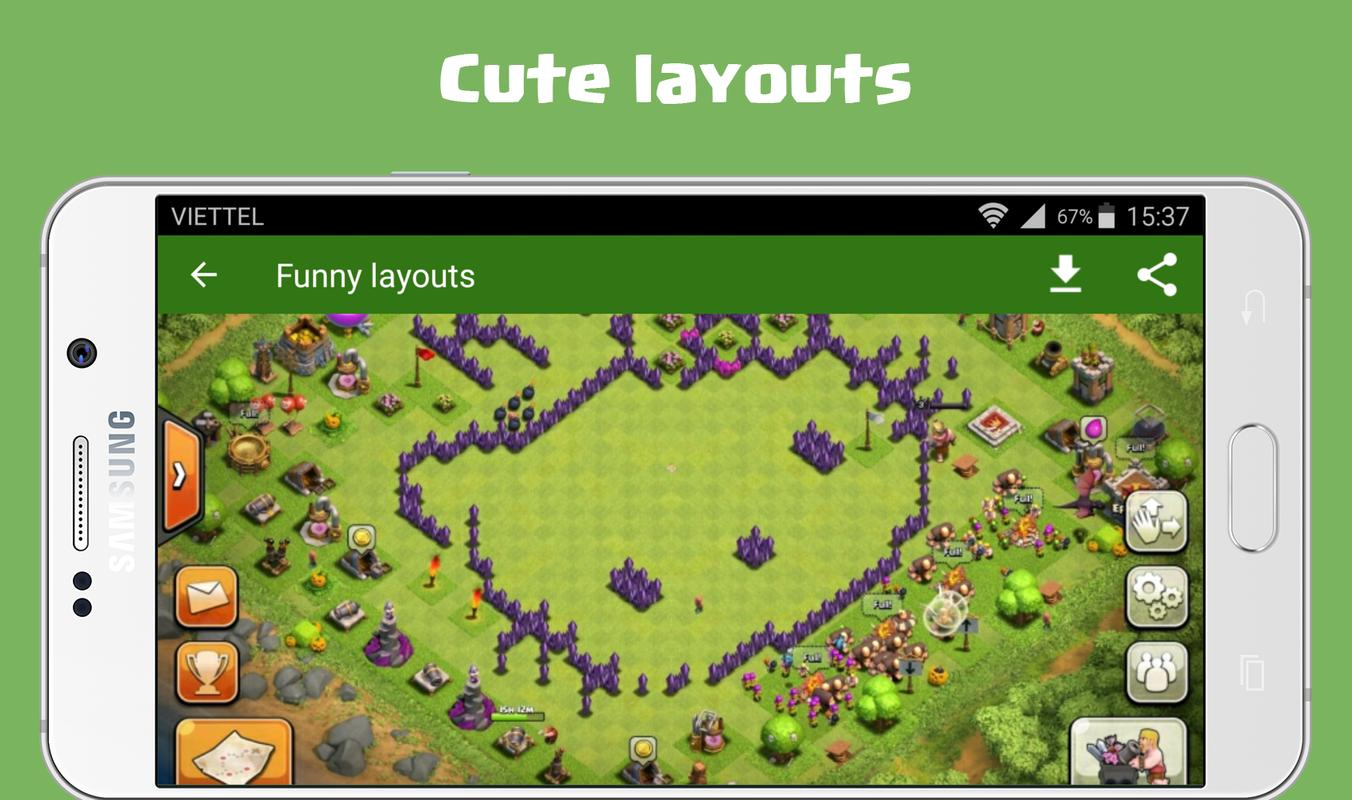 funny layouts wallpapers for clash of clans 2017 for android apk