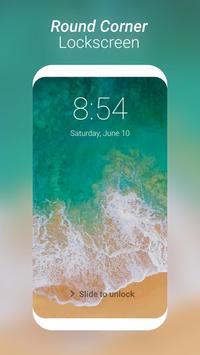 Round Corner i Lock Screen Phone 8 OS11 Style apk screenshot