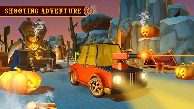 Scary Halloween Shooting Car Game poster