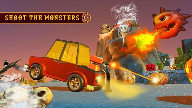 Scary Halloween Shooting Car Game screenshot 11