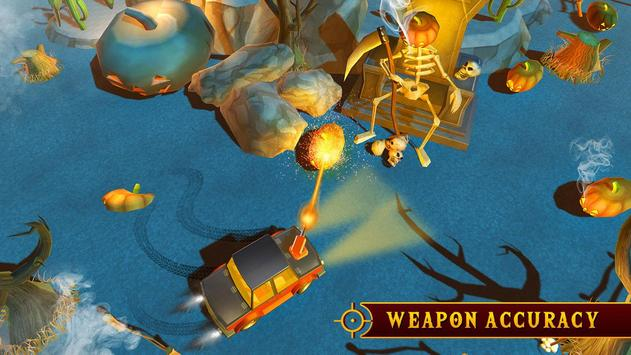 Scary Halloween Shooting Car Game screenshot 1