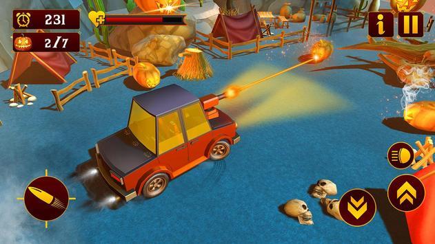 Scary Halloween Shooting Car Game screenshot 2
